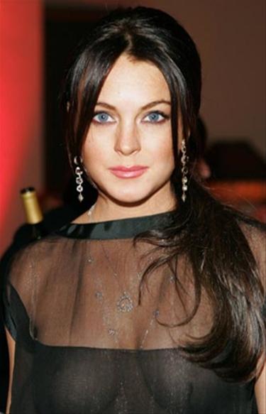Lindsay Lohan sin ropa interior